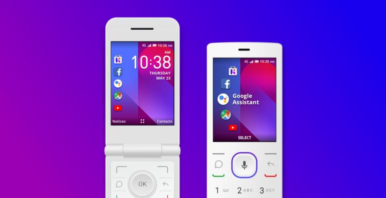 Nachteil ist zum Beispiel: Einen Touchscreen bekommt ihr bei einem Smart Feature Phone nicht. (Foto: KaiOS Technologies)