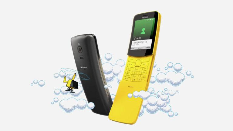 Das Nokia 8110 4G gehört zu den promintesten Smart Feature Phones. (Foto: HMD / Nokia)
