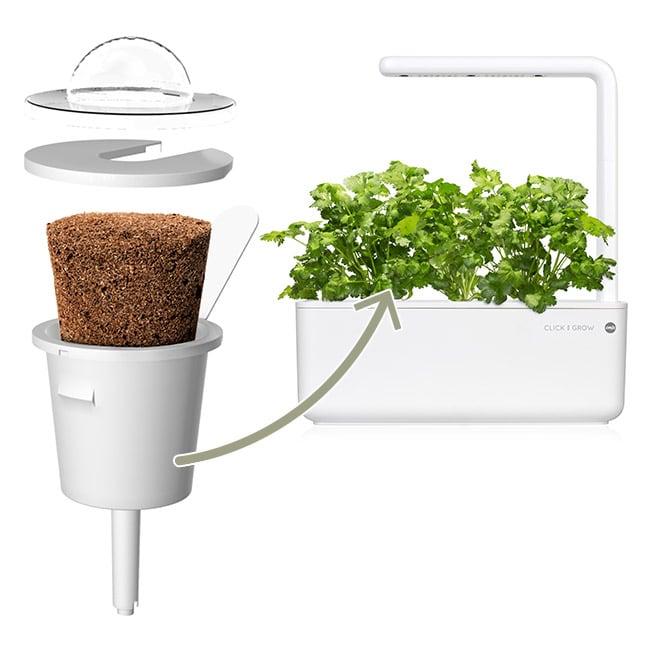 Das System von Emsa bietet ein einfaches Kapsel-System für den bequemen Anbau. (Foto: Emsa)