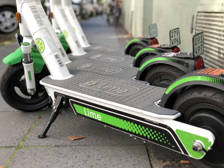 E-Scooter, wie hier von Lime