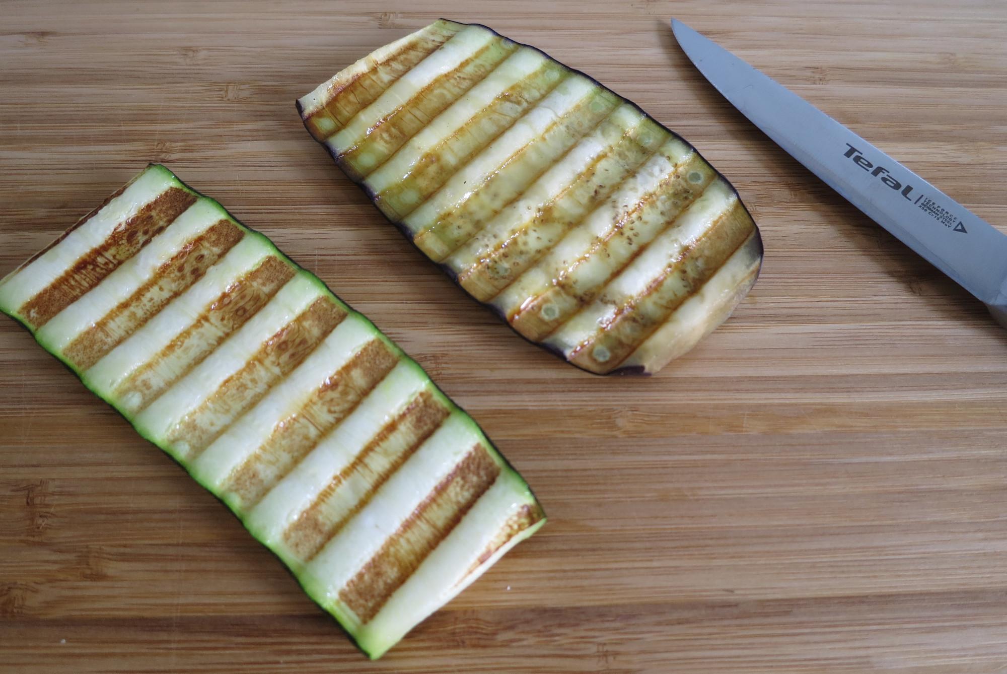 Zucchini und Aubergine aus dem Kontaktgrill Tefal Optigrill Elite