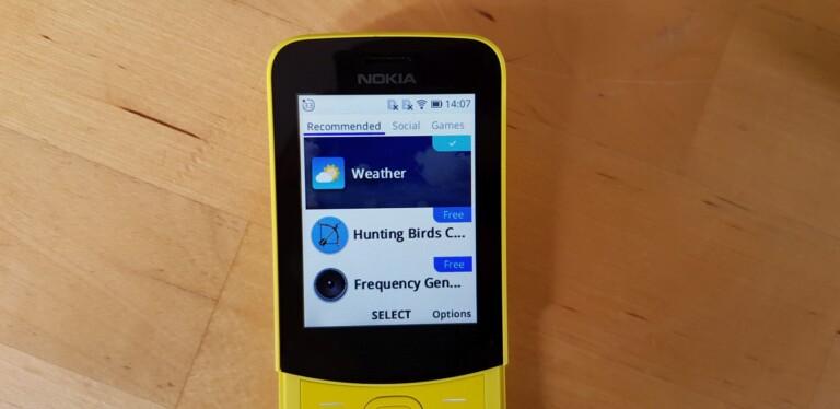 Wetterberichte bekommt ihr natürlich auf jeden Fall für euer Telefon mit KaiOS. (Foto: Sven Wernicke)
