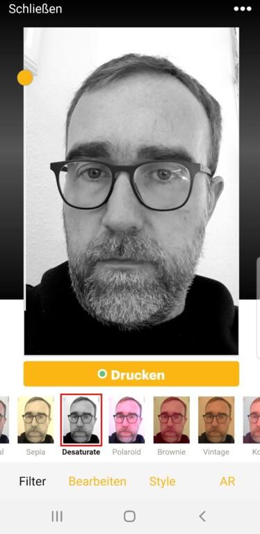 Die App. (Foto: Sven Wernicke / Screenshot)