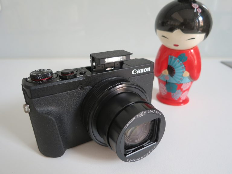 Canon Powershot G5 X Mark II mit Popup-Blitz