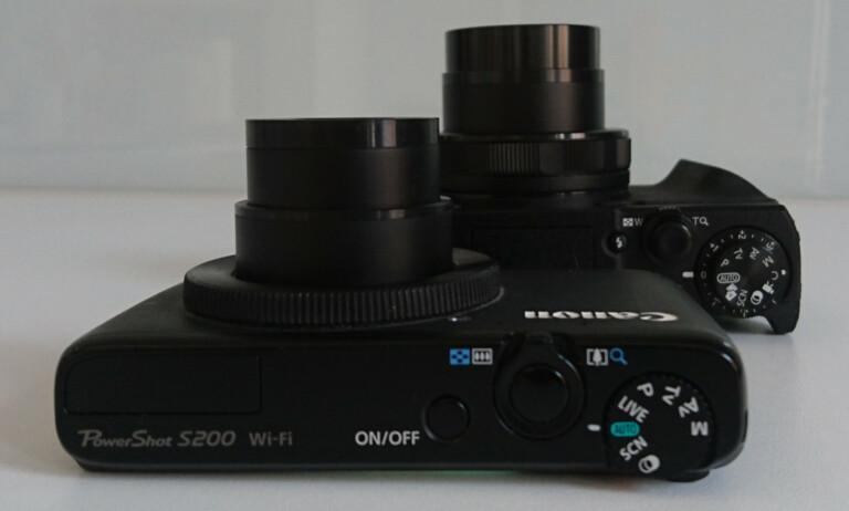 Canon Powershot G5 X Mark II und Canon Powershot S200