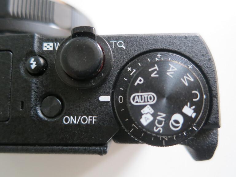 Canon Powershot G5 X Mark II Rädchen