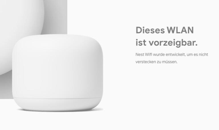 Googles Werbung für den Nest Wifi