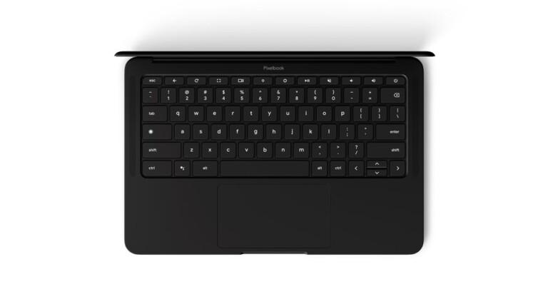Tastatur des schwarzen Pixelbook Go: Schon das ein echter Hingucker