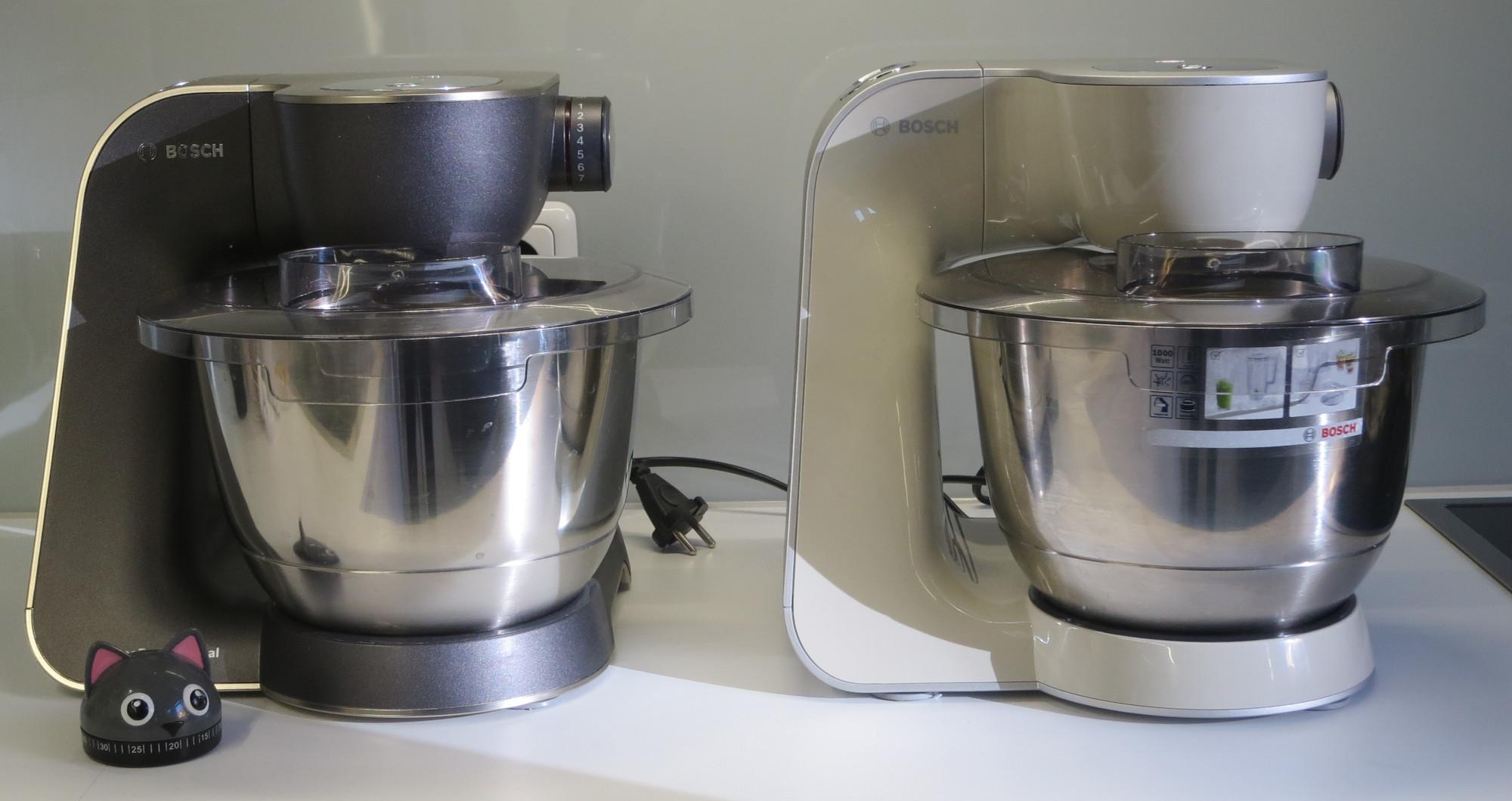 Küchenmaschine Bosch MUM 5 in alt und neu