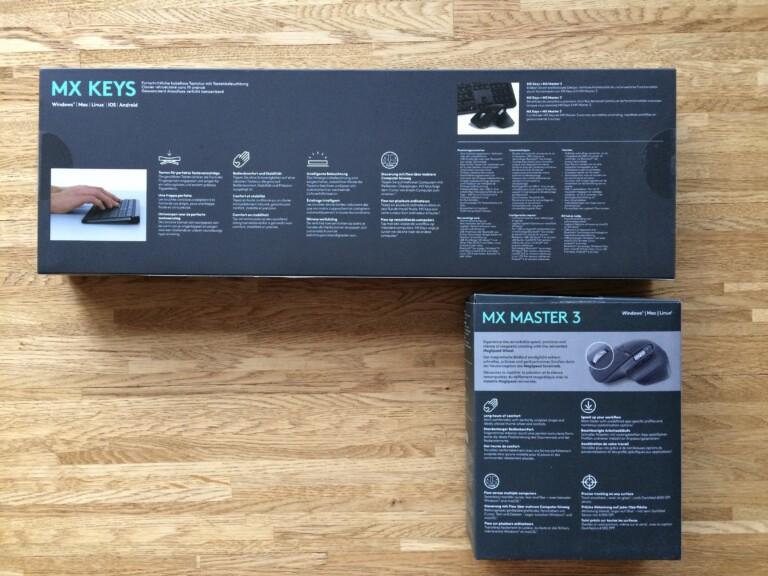 Tastatur Logitech MX Keys und Maus Logitech MX Masters 3