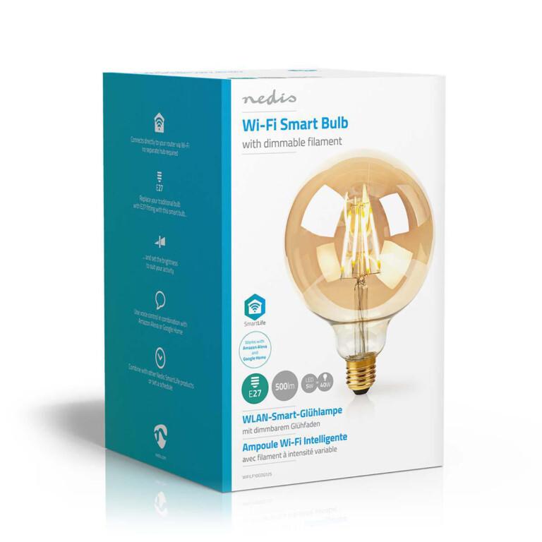 Smarte WIFI-Filament-Lampe. (Foto: Nedis)