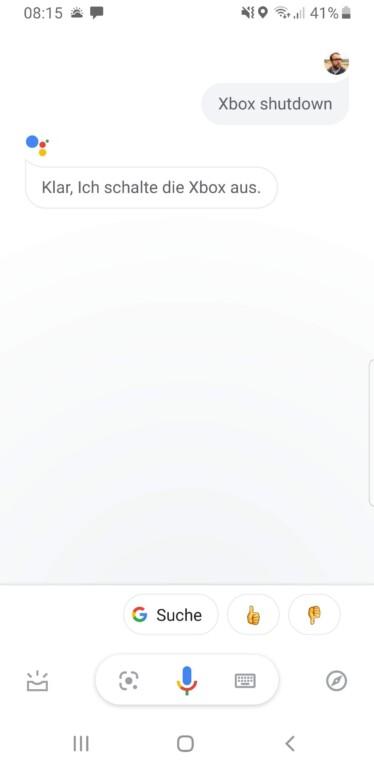 Ein wenig Deutsch kann der Google Assistant für die Xbox One schon jetzt. (Screenshot)