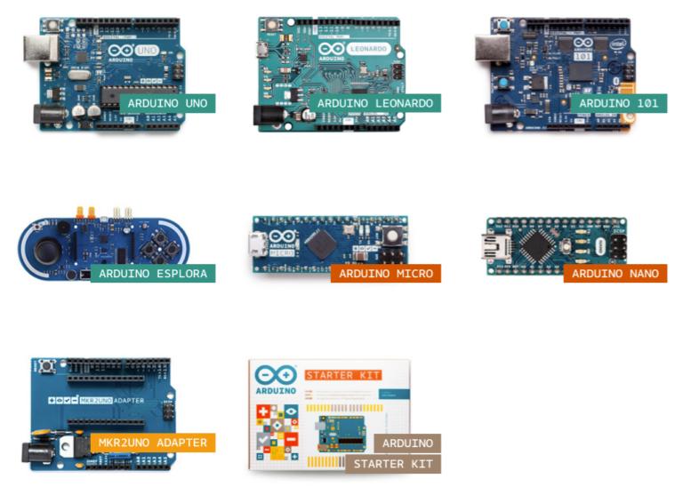 Verschiedene Arduino-Boards zum Selber-Experimentieren. Bild: Arduino.cc