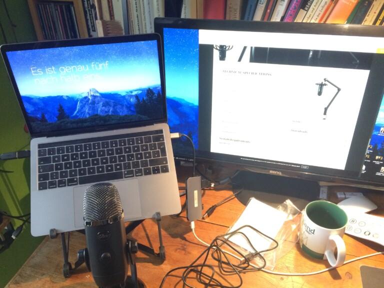 USB-Mikrofon Yeti X im Einsatz