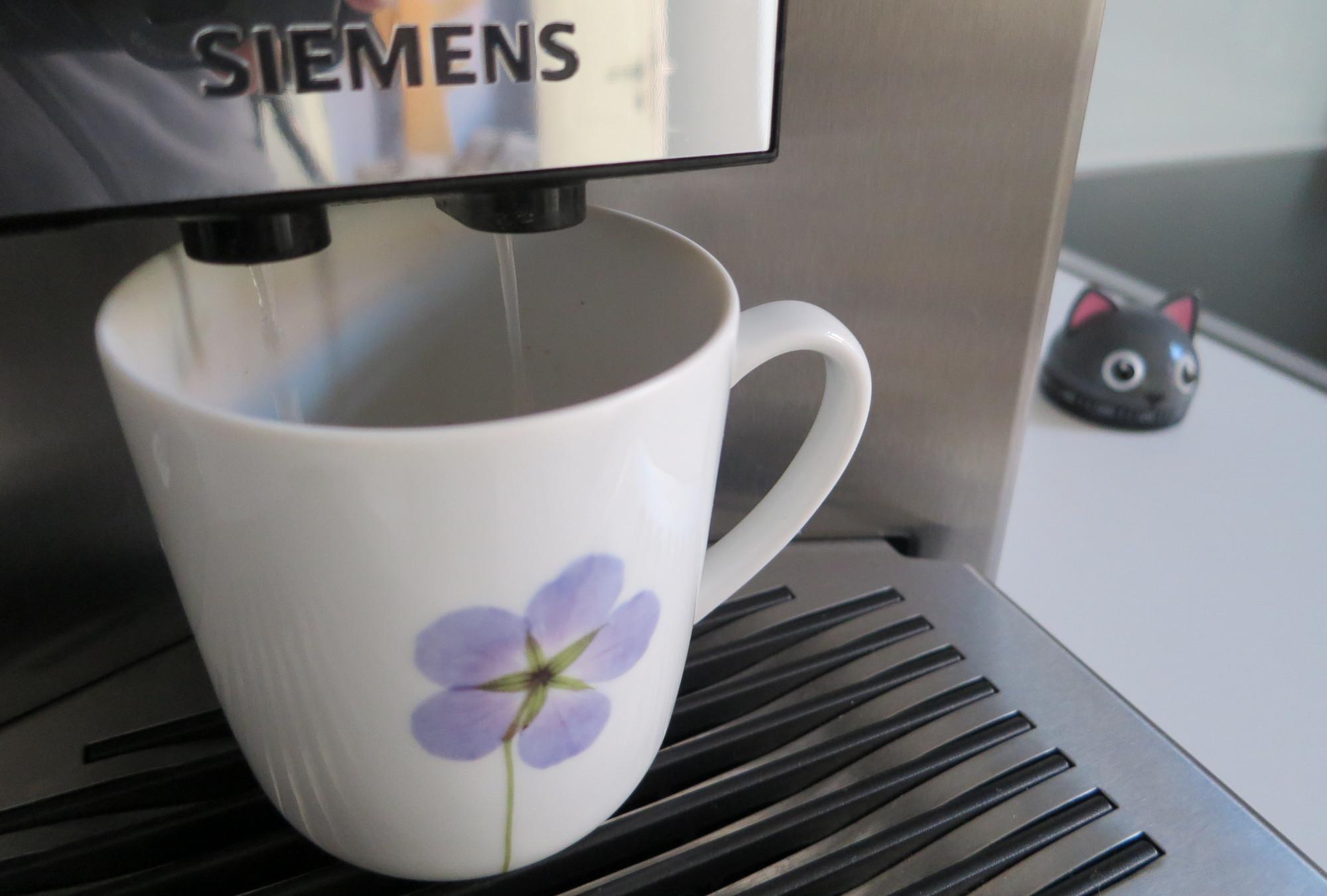 Durchspülen beim Kaffeevollautomaten Siemens EQ.9 plus connect