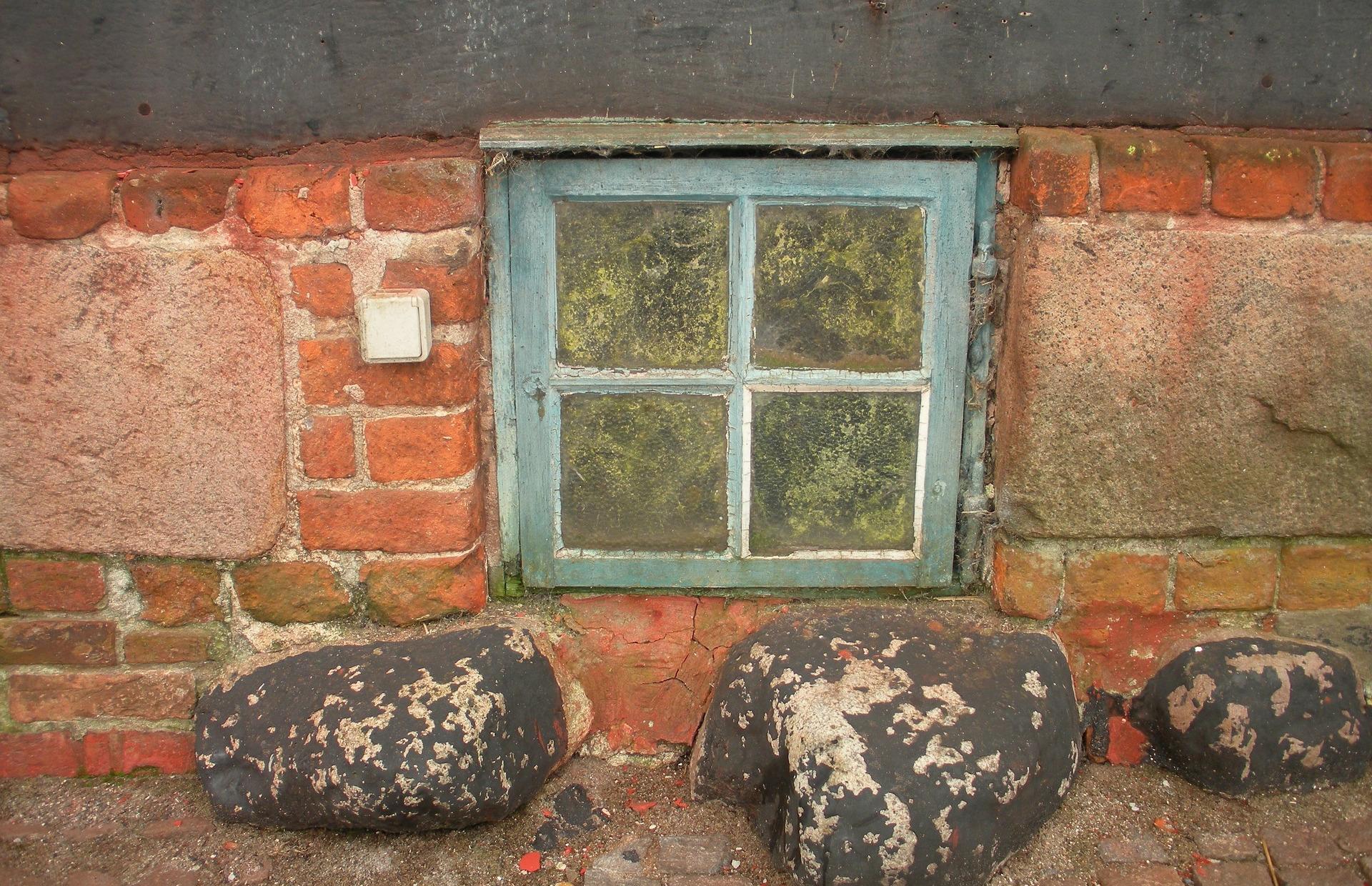 Fenster zur Kellerwohnung