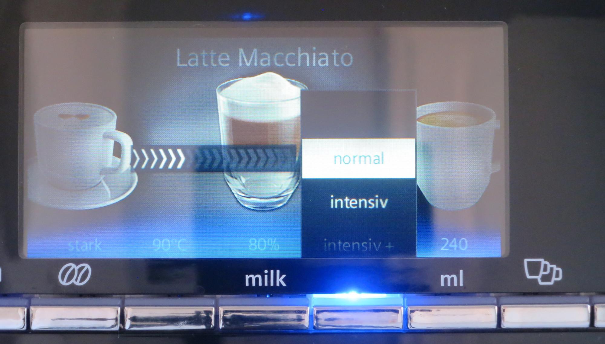 Einstellungen am Kaffeevollautomaten Siemens EQ.9 plus connect vornehmen