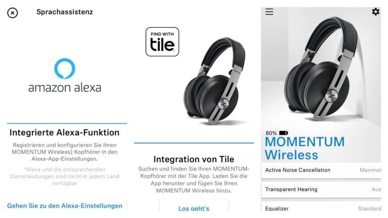 Sennheiser Momentum Wireless 3 mit Tile und Alexa