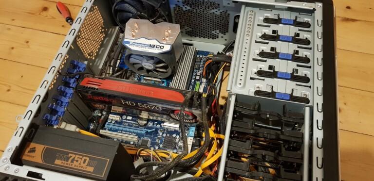 Hier zu sehen: Mein letzter Desktop-PC. (Foto: Sven Wernicke)