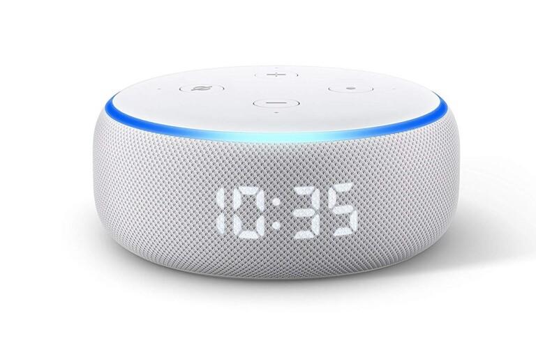 Jetzt mit LED-Bildschirm. Und damit wird der Echo Dot zum smarten Wecker. (Foto: Amazon)
