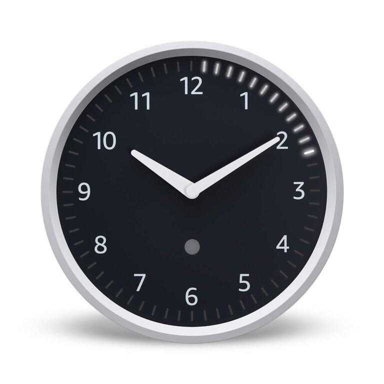 Eine smarte Wanduhr. Aber die Echo Wall Clock benötigt ein Echo-Gerät in der Nähe. (Foto: Amazon)