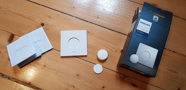 Das liegt dem Philips Hue Smart Button bei. (Foto: Sven Wernicke)