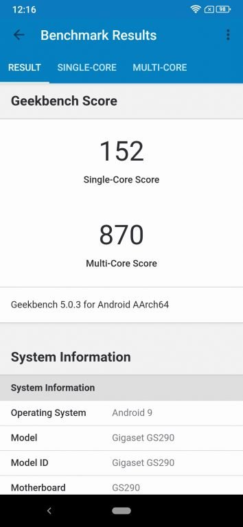 GeekBench 5. (Screenshot)