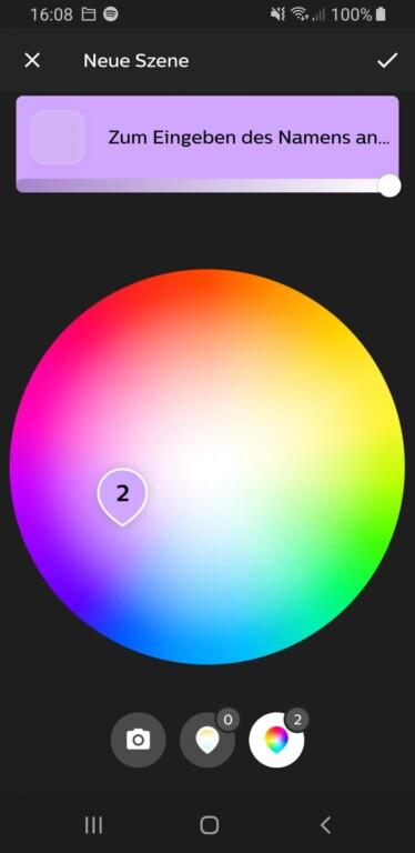 Wählt eine beliebige Farbe aus. (Screenshot)