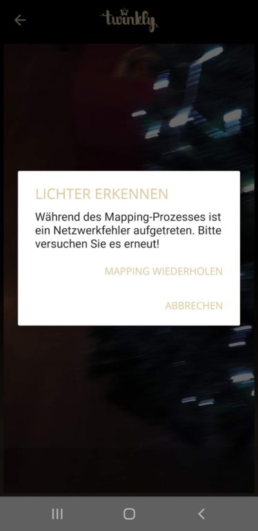 Fehler beim Mapping. (Screenshot)