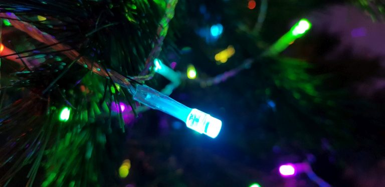 Die LEDs sehen hübscher aus als bei manch anderen Lichterketten. (Foto: Sven Wernicke)