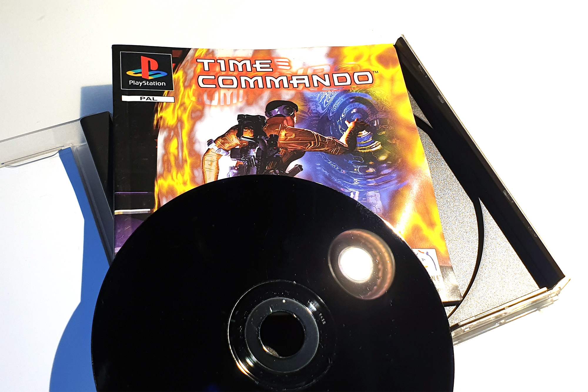 Time Commando PlayStation CD Disc 25 Jahre