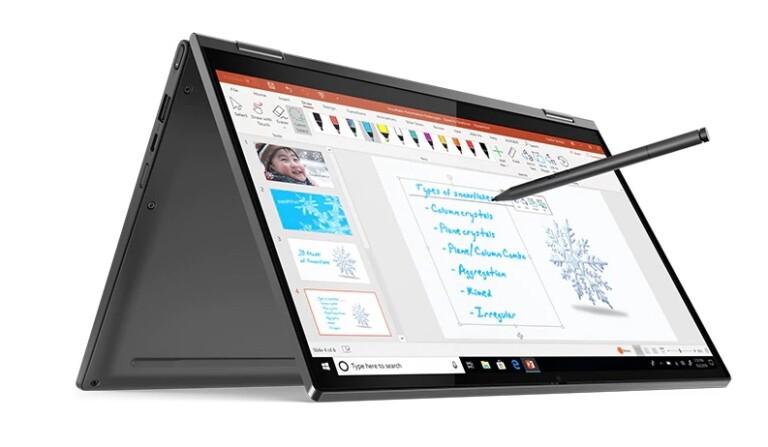 Der berühmte Yoga-Modus (hier im Lenovo Yoga C640): Macht aus einem Notebook einfach ein Tablet