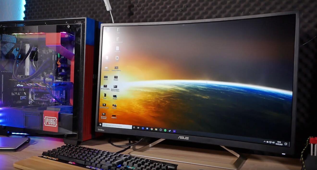 Asus VA326 Curved Gaming-Monitor: Der Riese mit der kleinen Auflösung