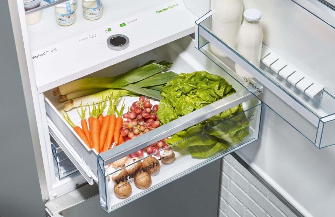 Gemüse im Bosch-Kühlschrank