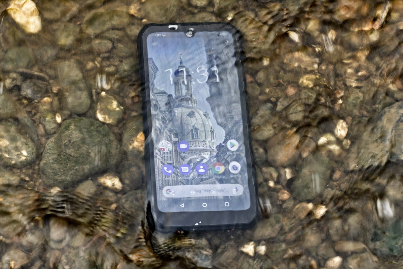 Outdoor-Handy Gigaset GX290 im Test: Endgegner Elbe?