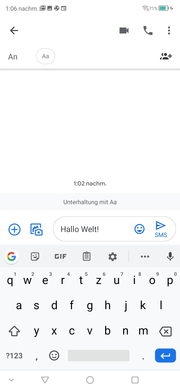 Google Tastatur Seniorenhandy