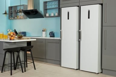 InstaSwitch-Kühlschrank von Haier in der Küche