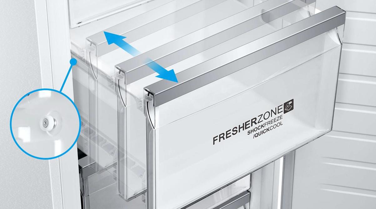 FresherZone-Schublade im InstaSwitch-Kühlschrank von Haier