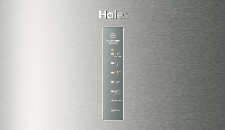 Display des Kühlschranks Haier Insta Switch