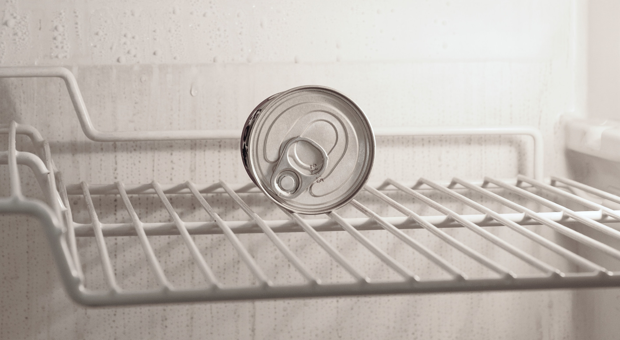 Konservendose im Kühlschrank