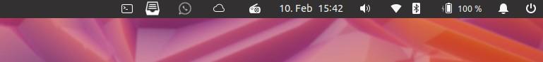 Status-Leiste unter Linux