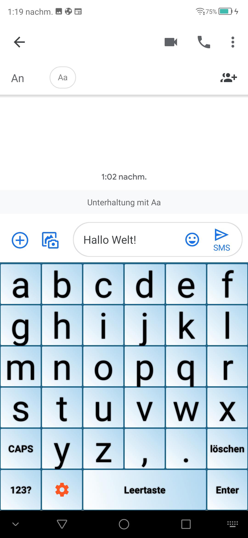 Tastatur für Senioren