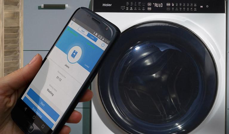 Waschtrockner Haier Super Drum mit Smartphone-App U+