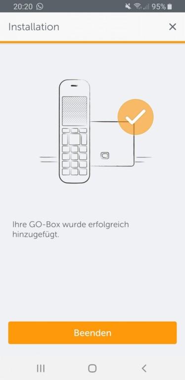 Mit der Smartphone-App verbindet ihr euch mit dem Festnetz-Telefon. (Screenshot)