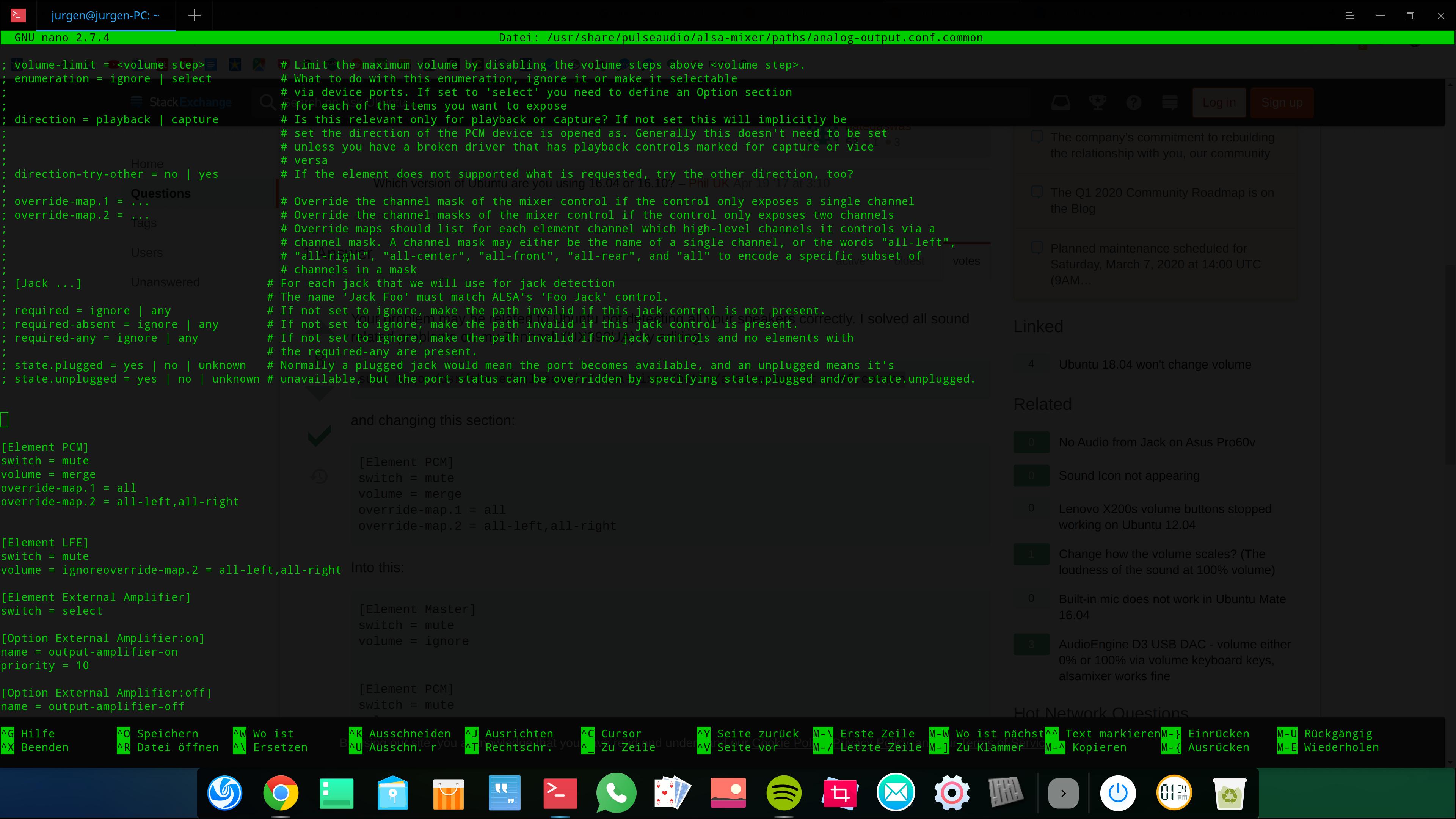 Konsole unter Deepin Linux