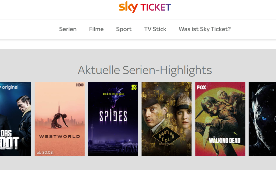 Sky Ticket Sony Tv