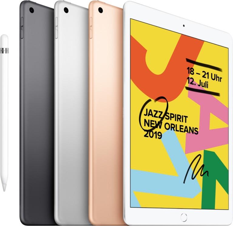 Ein iPad ist auch eine gute Wahl. Denkt an einen geeigneten Ständer, damit es mit der Videotelefonie ohne Festnetz klappt. (Foto: Apple)