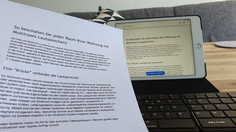 Drucken mit dem iPad geht über AirPrint oder Cloud-Print.