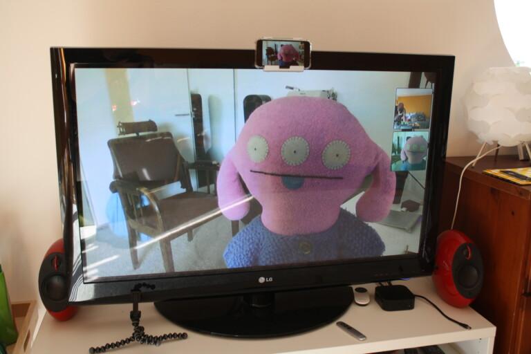 Jitsi auf dem Fernseher