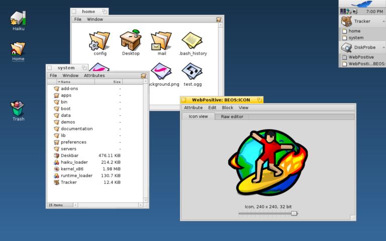 Haiku ist ein Betriebssystem im Stile von BeOS
